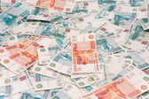 Russian roubles background — Stock Photo
