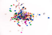 Falling confetti — Stock Photo