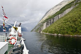 Travel on a fjord — Stock Photo