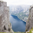 Mountain Kjerag in Norway - Stok fotoğraf