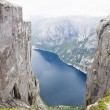 Mountain Kjerag in Norway - Stock Photo