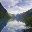 Briksdal Glacier Valley — Stock Photo