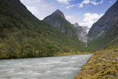 Briksdal Valley — Stock Photo