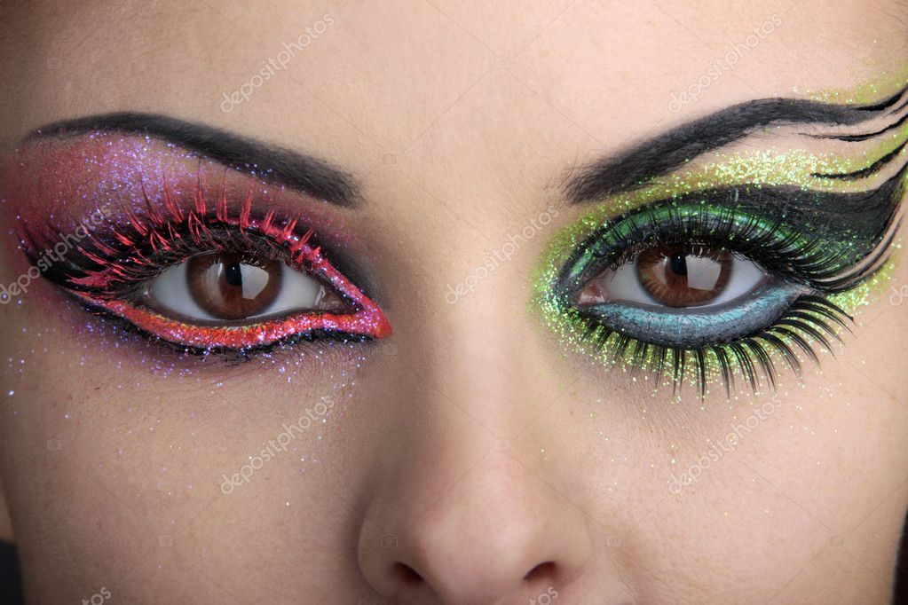 Eye makeup with a beautiful eyebrow  Stock Photo #1779316