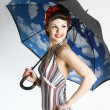 Stock Photo: Pinup wom- retro style