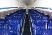 Салон небольшого пассажирского самолета — Stock Photo