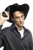 Cowboy male — Stock Photo