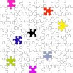 quebra-cabeça em branco — Foto Stock