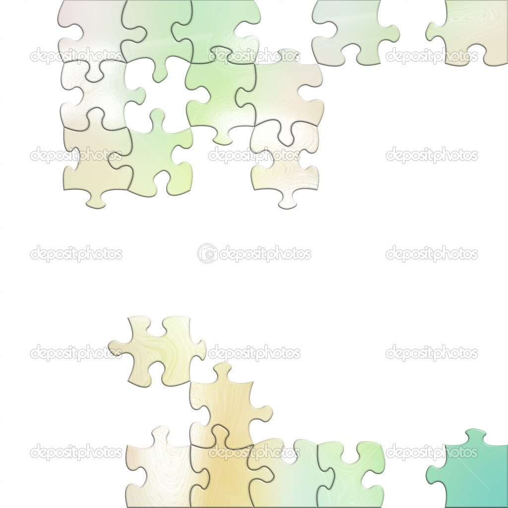 Illustration of puzzles  Stock Photo #1974879