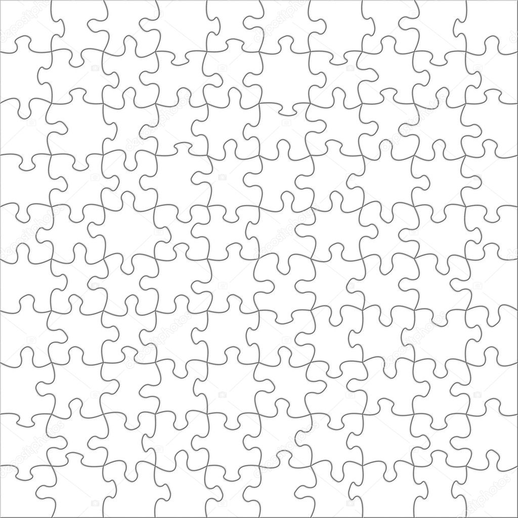 Illustration of blank puzzles  Foto de Stock   #1975088