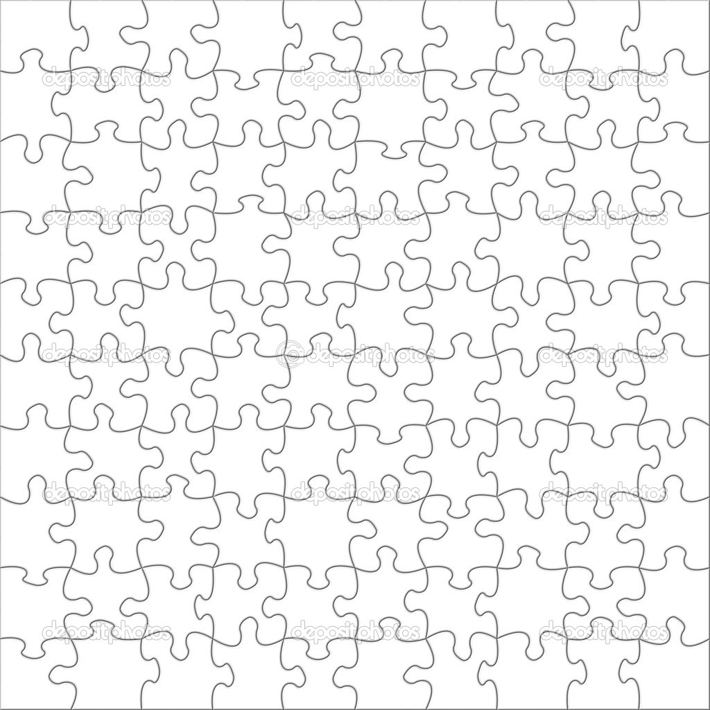 Illustration of blank puzzles — Stockfoto #1975088
