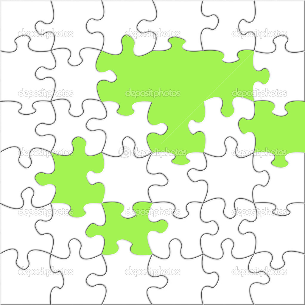 Illustration of  puzzles — Stock Photo #1975098