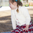 Young girl in the park - Stock Photo