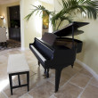 Black grand piano - Stock Photo