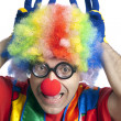 Funny clown — Foto de Stock