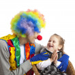 Clown and little girl — Stock Photo #2630899