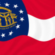 Royalty-Free Stock Photo: Georgia state flag