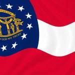 Georgia state flag — Stock Photo