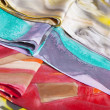 Stock Photo: Colorful silk scarfs