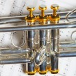 Part of trumpet — Stock Photo