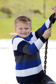 Young boy in the park — Stock Photo