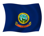 Idaho state flag — Stock Photo