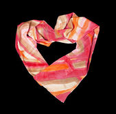 Creation from silk scarf — Stock Photo