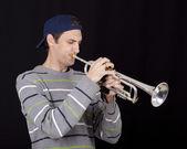 Trumpetaren — Stockfoto