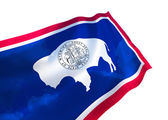 Wyoming state flag — Stock Photo