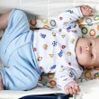 Portrait of young little baby boy - Stock Photo
