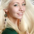 Beautiful woman with long blond hair — Stock Photo