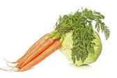 Cabbage and carrot — Stock Photo