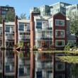 Condominium Pond - Stock Photo
