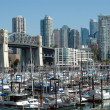 Marina in downtown Vancouver — Stock Photo