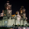 Mexico city cathedral by night — Foto de Stock