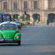 Stock Photo: Mexico city green taxi