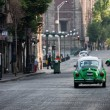 Mexico city green taxi — Stock Photo