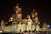 Mexico city cathedral by night — Stock Photo