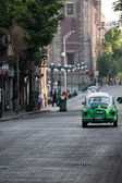 Mexico city zelené taxi — Stock fotografie