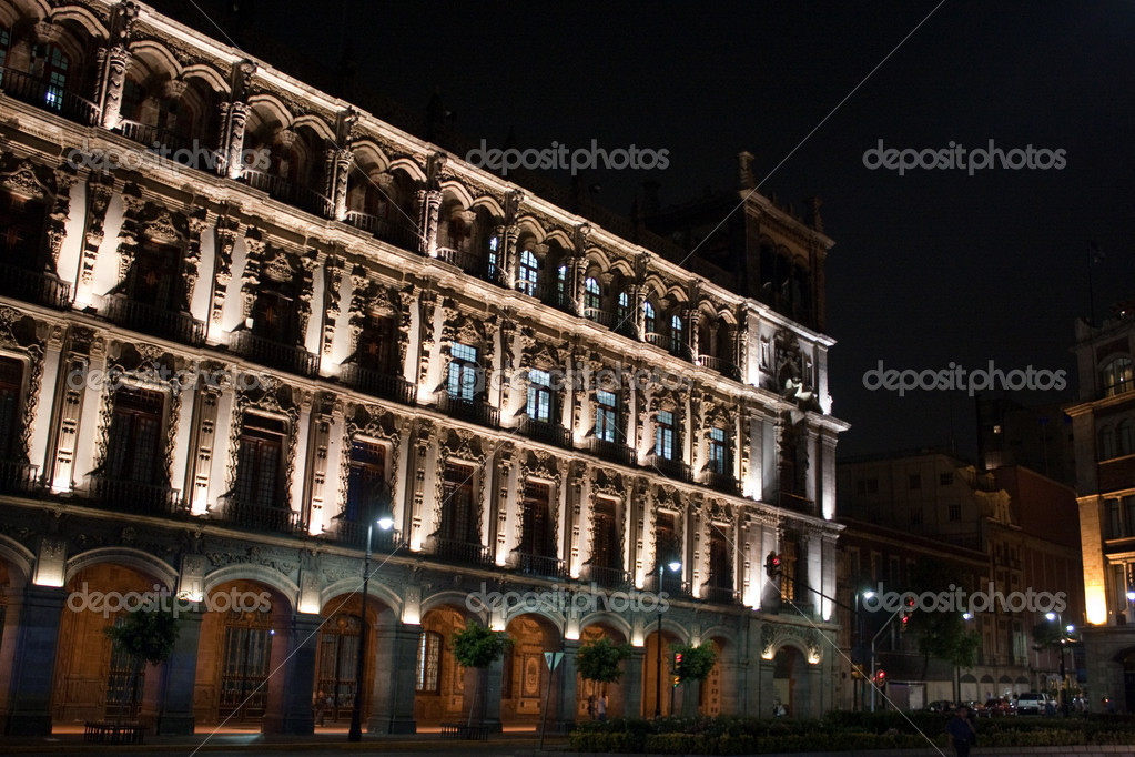 Mexico city by night — Stock Photo #1774236