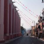 Puebla old town street — Stock Photo