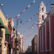 Stock Photo: Puebla old town street