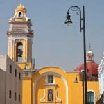 Puebla old town church — Stock Photo