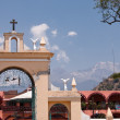 Stock Photo: Church in small town in mexico