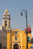 Puebla old town church — Stock Photo