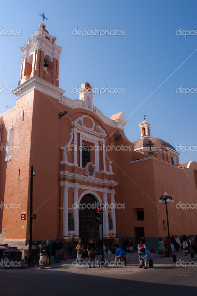Puebla old town church — Stock Photo #1781864