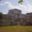 Stock Photo: Tulum ruins and white beach in mexico