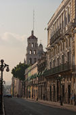 Puebla old town street — Stock Photo
