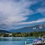 Постер, плакат: Bled lake Julian Alps in Slovenia
