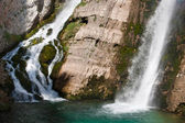 Waterfall in Sloveni — Stock Photo